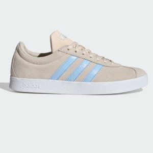 adidas | NEW VL COURT 2.0 Sneaker Cream Blue US7.5